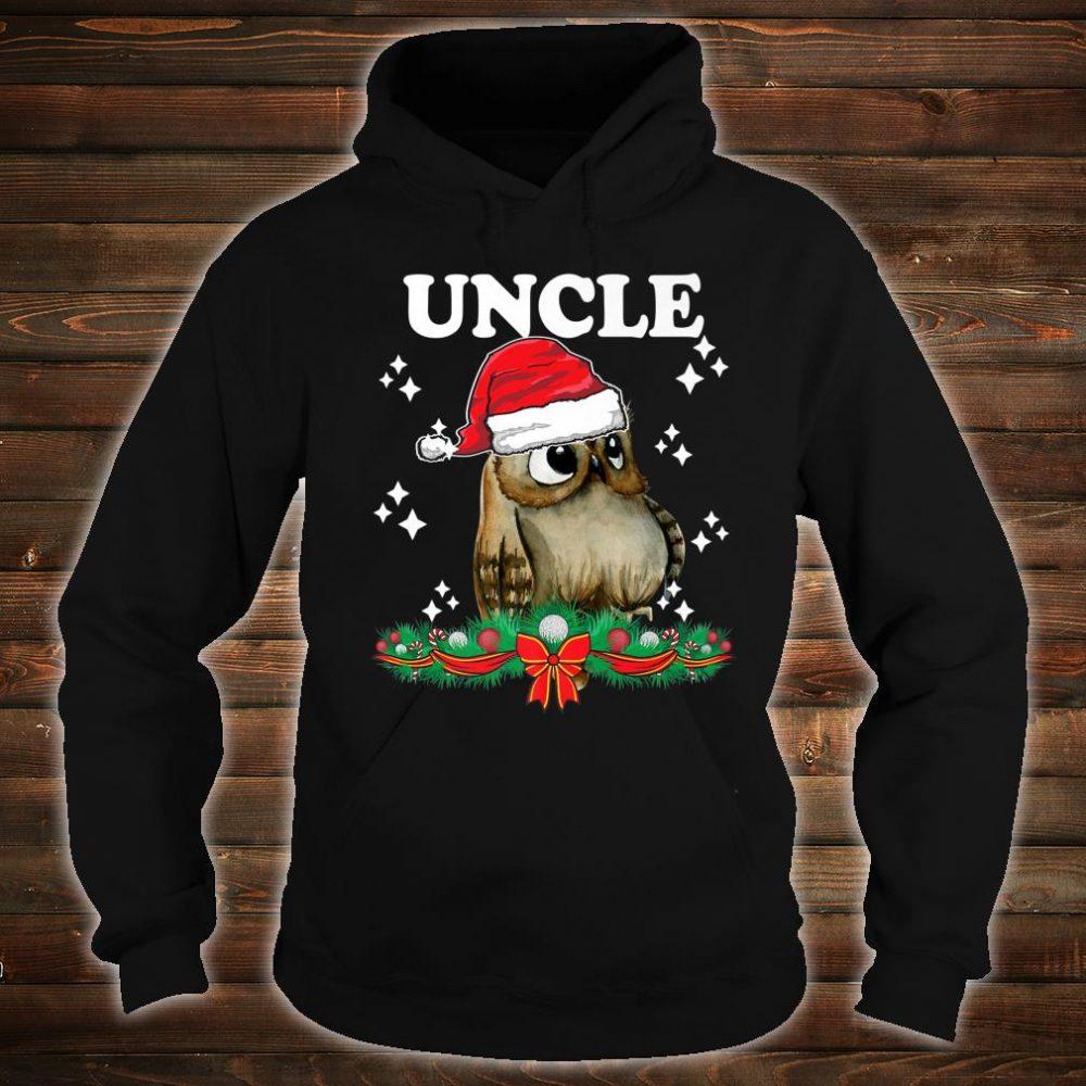Mens Uncle Owl Santa Christmas Xmas Matching Family Pajama Shirt hoodie