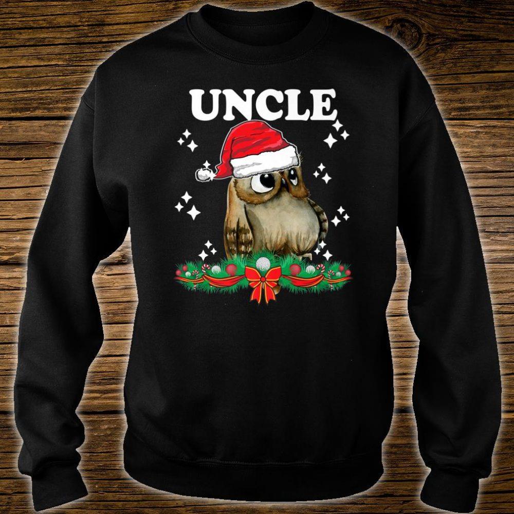 Mens Uncle Owl Santa Christmas Xmas Matching Family Pajama Shirt sweater