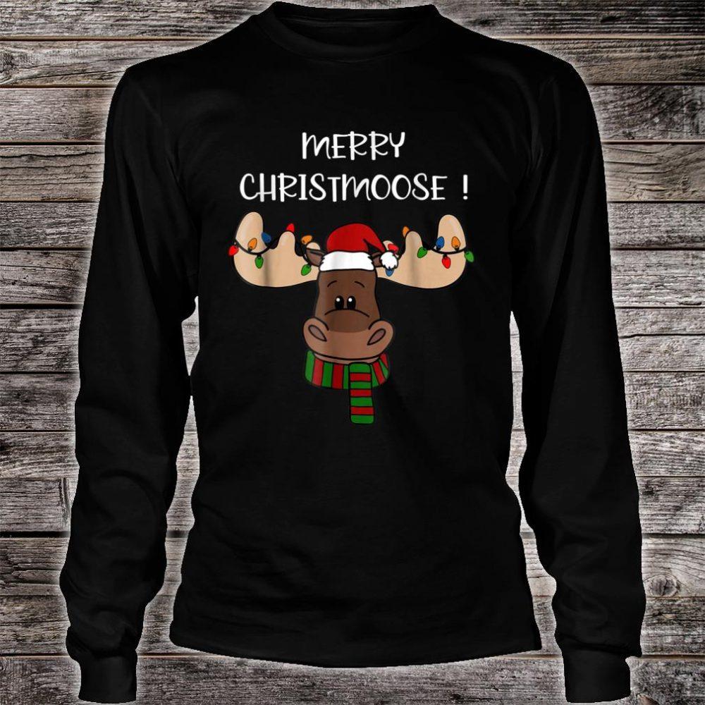 Merry Christmoose shirt, Moose Pun Christmas Shirt long sleeved