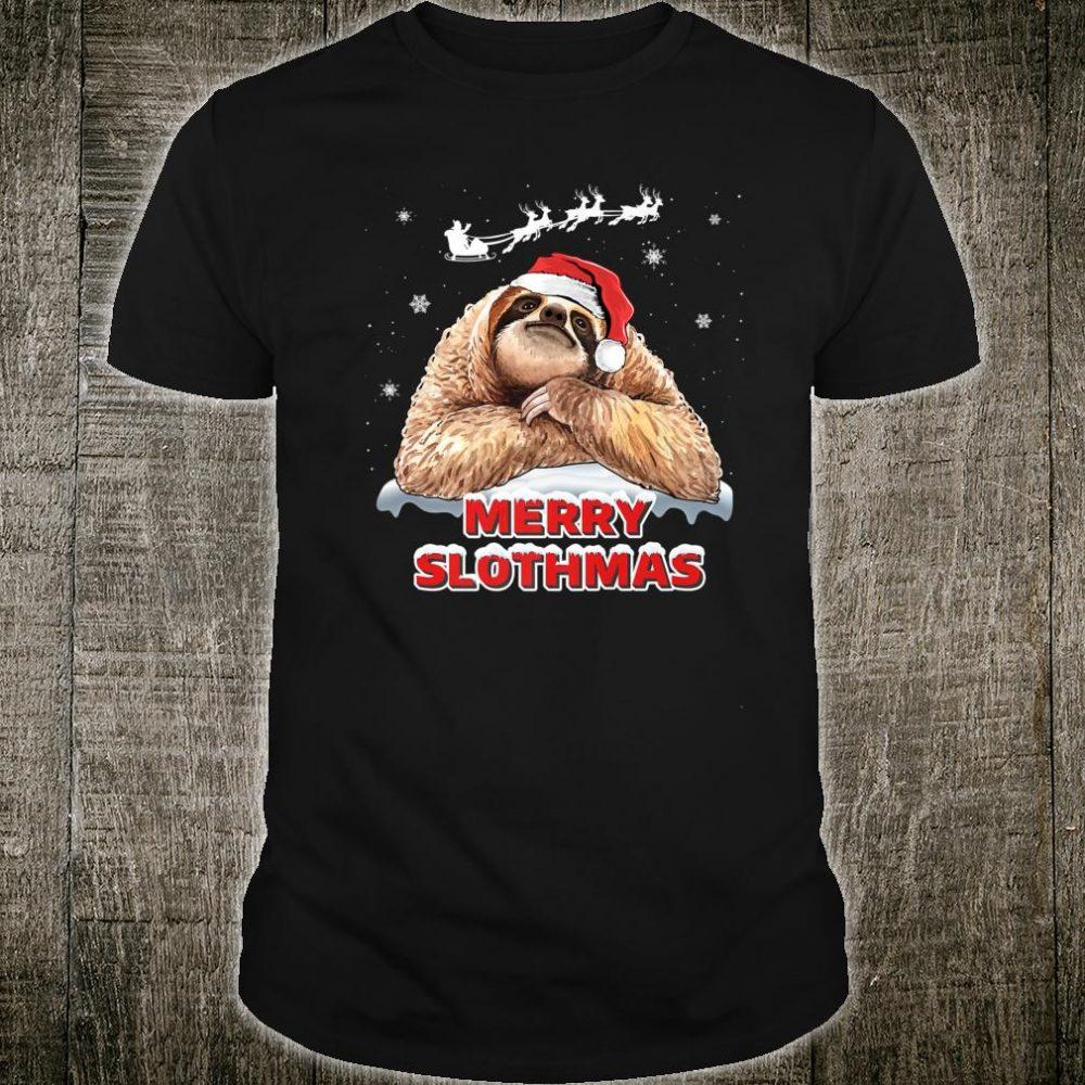 Merry Slothmas Sloth Christmas Outfit For Sloths Shirt