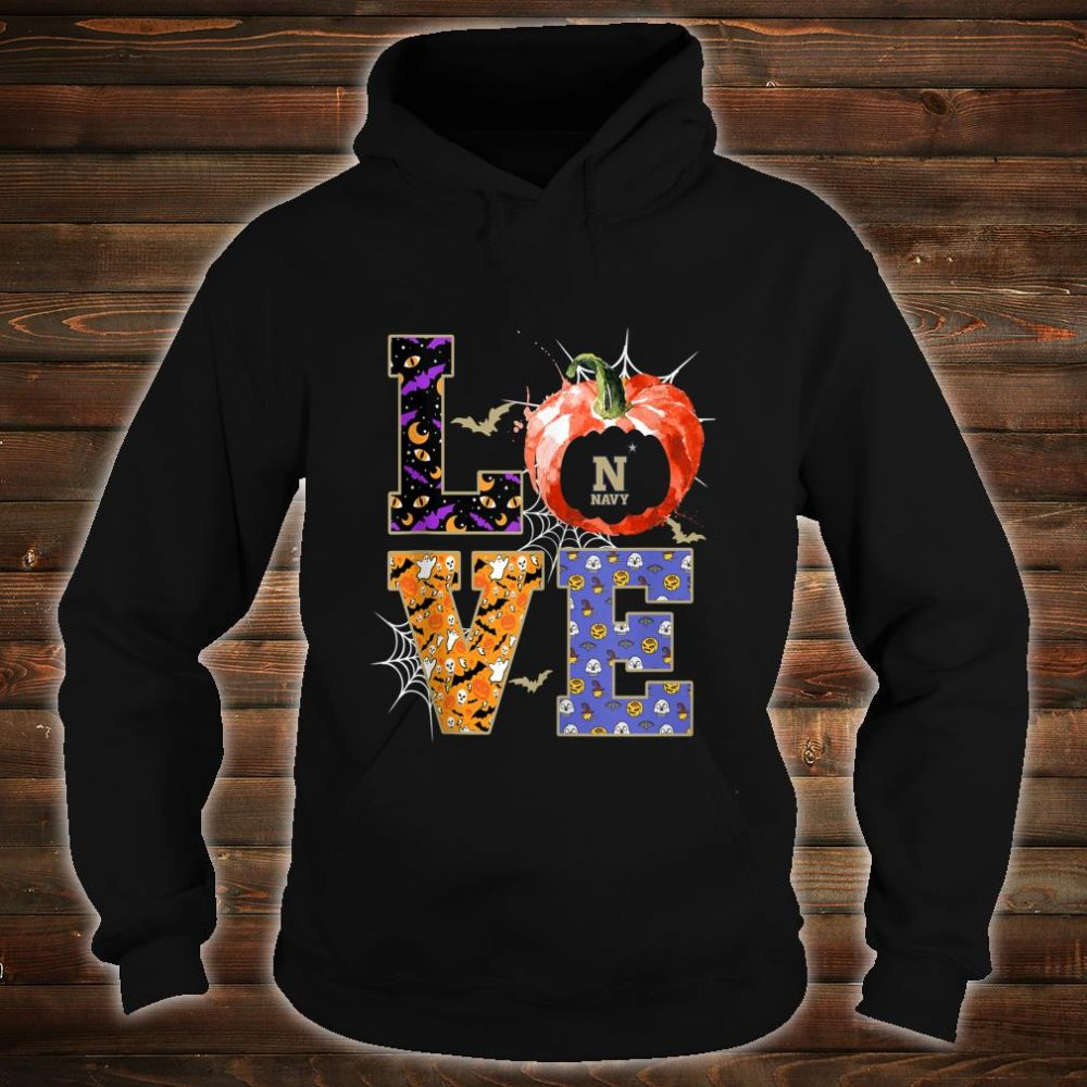 Navy Midshipmen Stacked Love Apparel Shirt hoodie