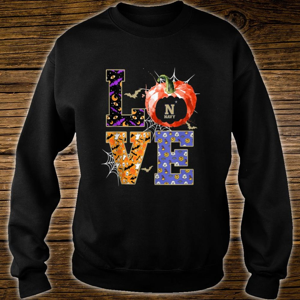 Navy Midshipmen Stacked Love Apparel Shirt sweater