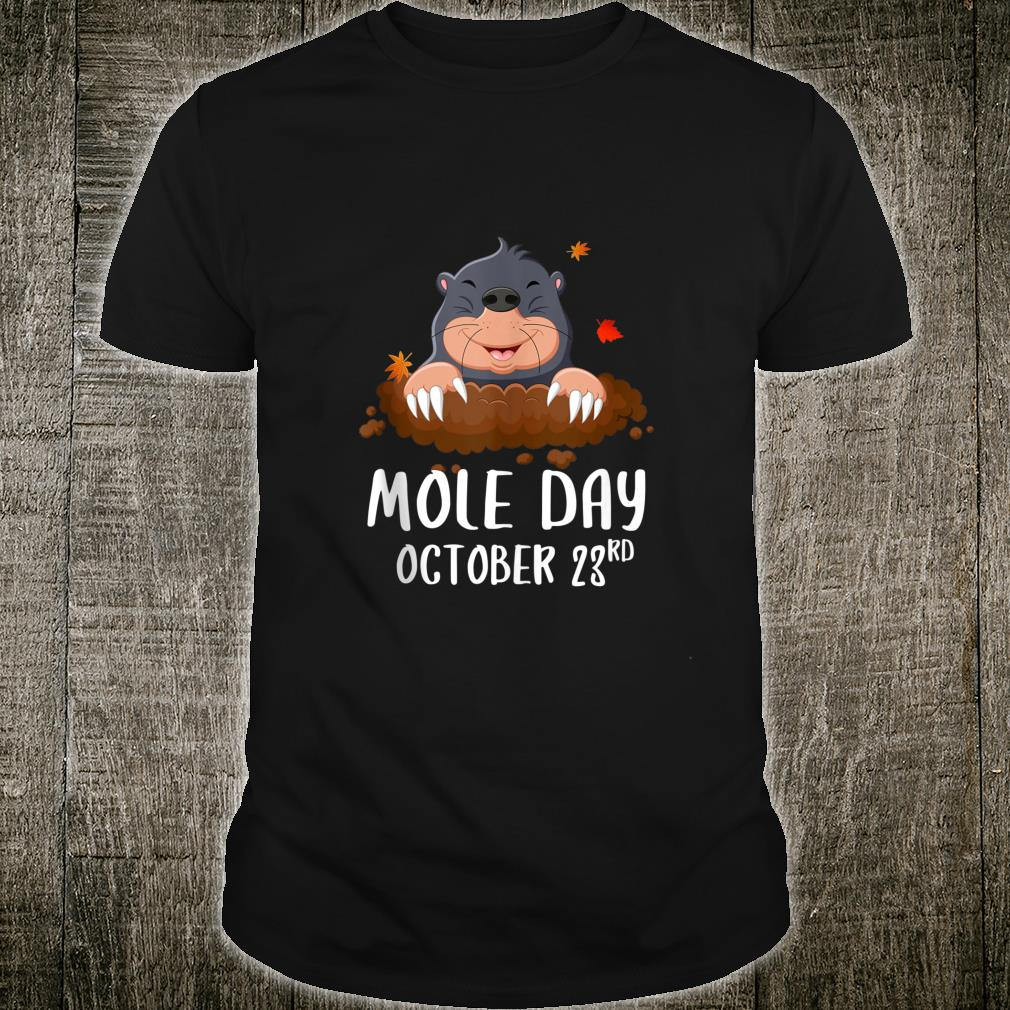 October 23rd National Mole Day Avogadro's Number Shirt
