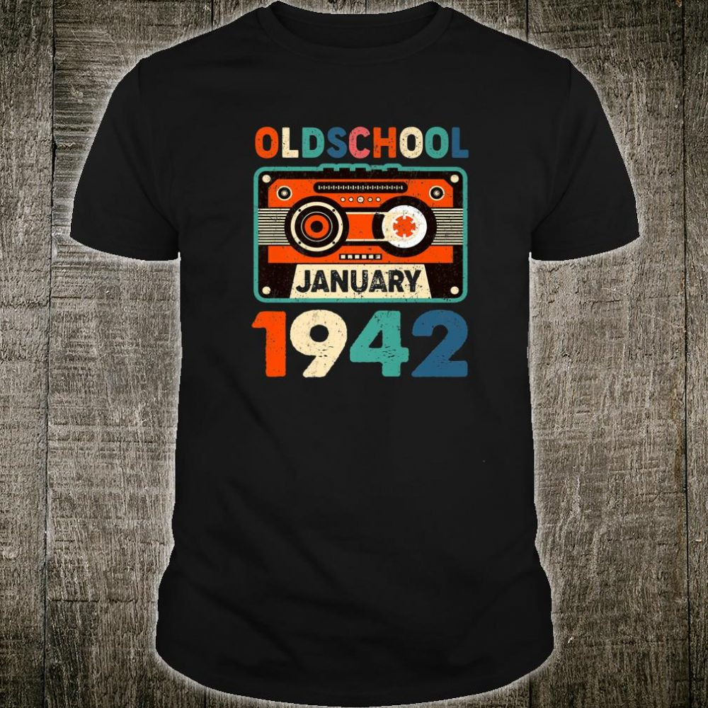 Oldschool 1942 Mix Tape 78th Birthday 78 Years Old Shirt