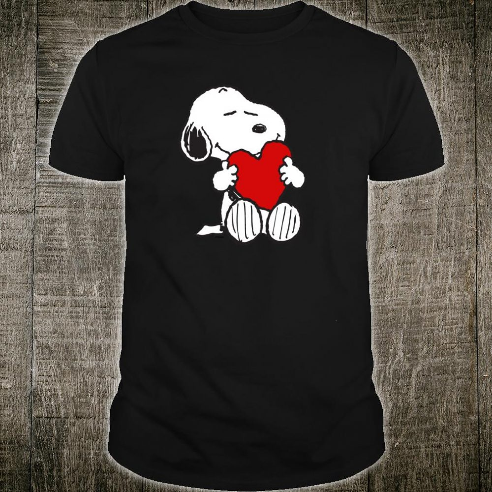 Peanuts Valentine Snoopy Hugging Heart Shirt