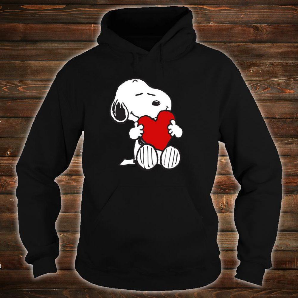 Peanuts Valentine Snoopy Hugging Heart Shirt hoodie
