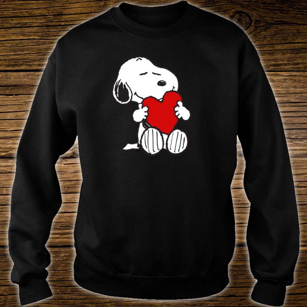 Peanuts Valentine Snoopy Hugging Heart Shirt sweater