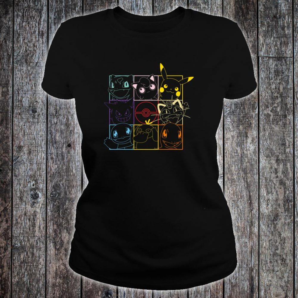 Pokemon Grid Shirt ladies tee