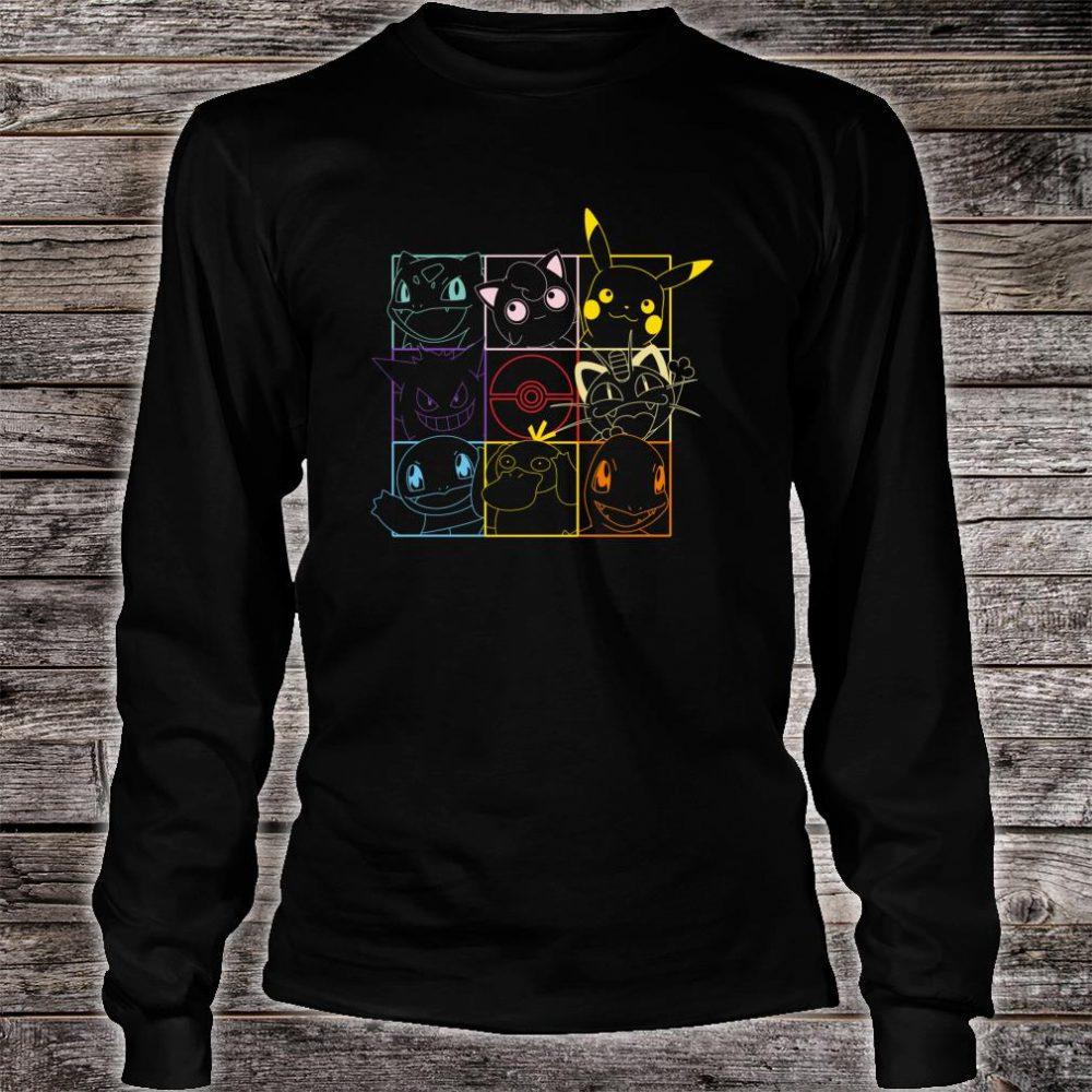 Pokemon Grid Shirt long sleeved
