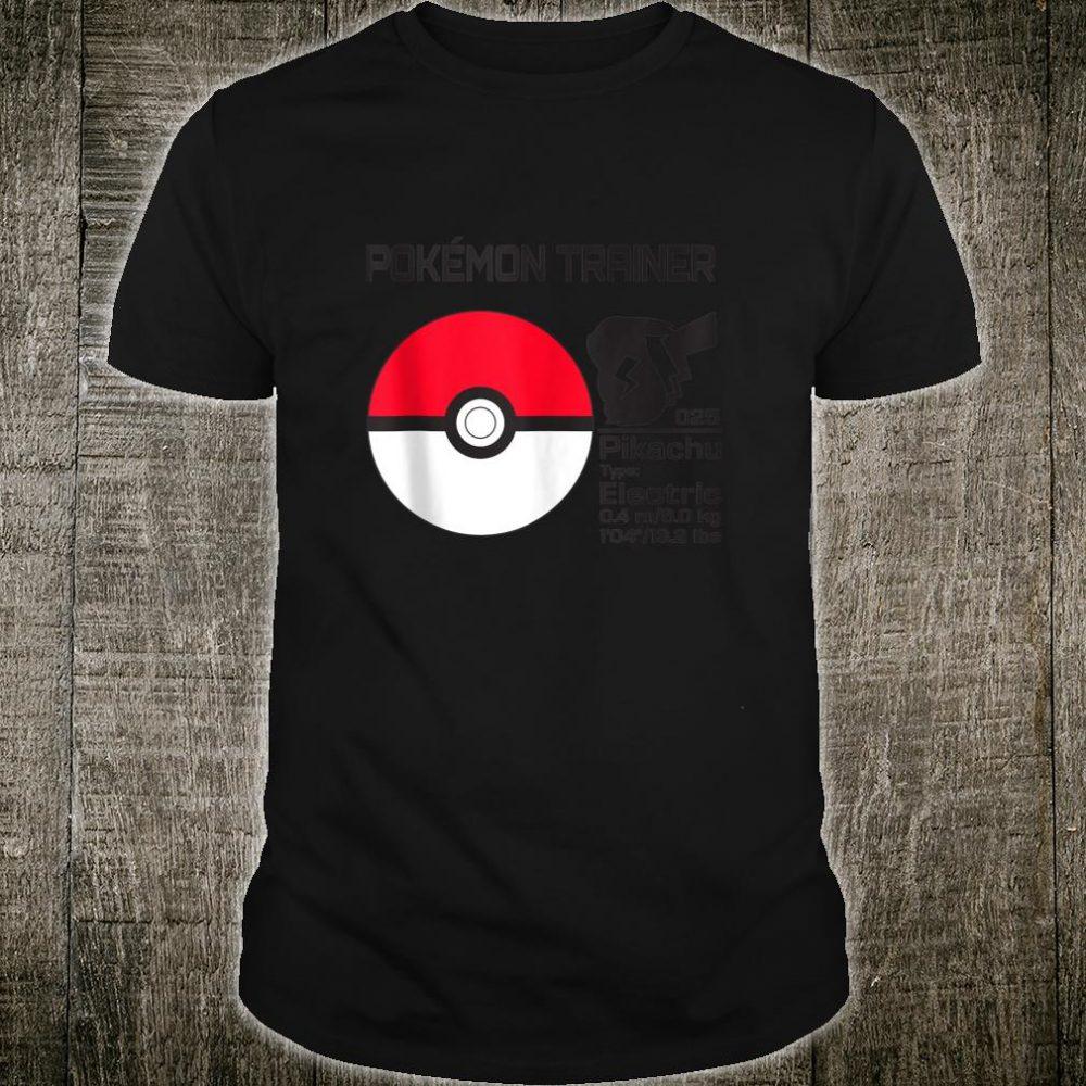 Pokemon Pokeball Trainer Shirt
