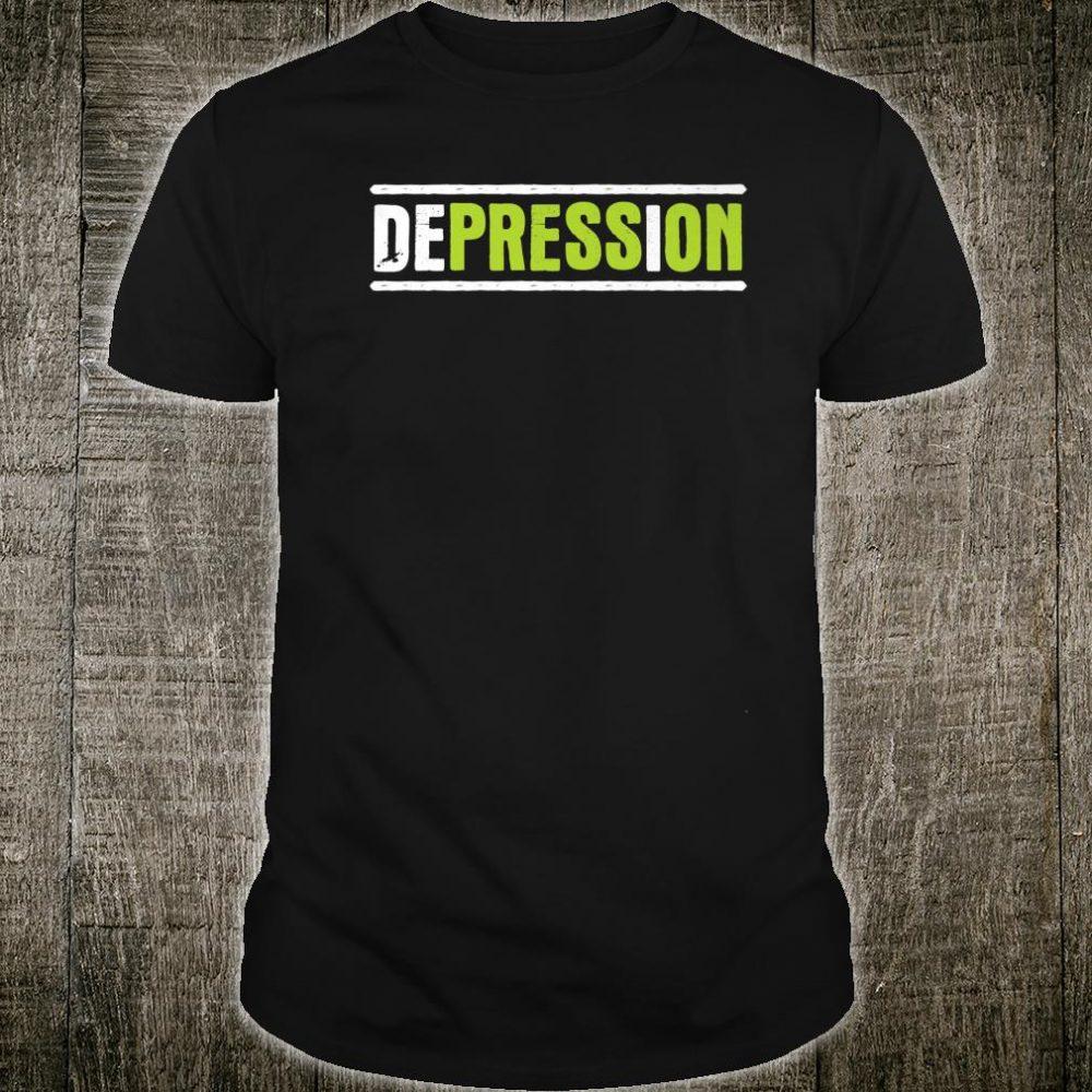 Press On Hidden Message Depression Awareness Shirt