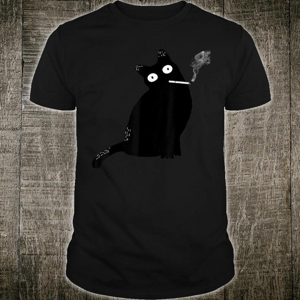 Rebel Smoking Bad Cat Shirt