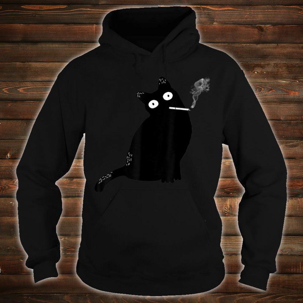 Rebel Smoking Bad Cat Shirt hoodie