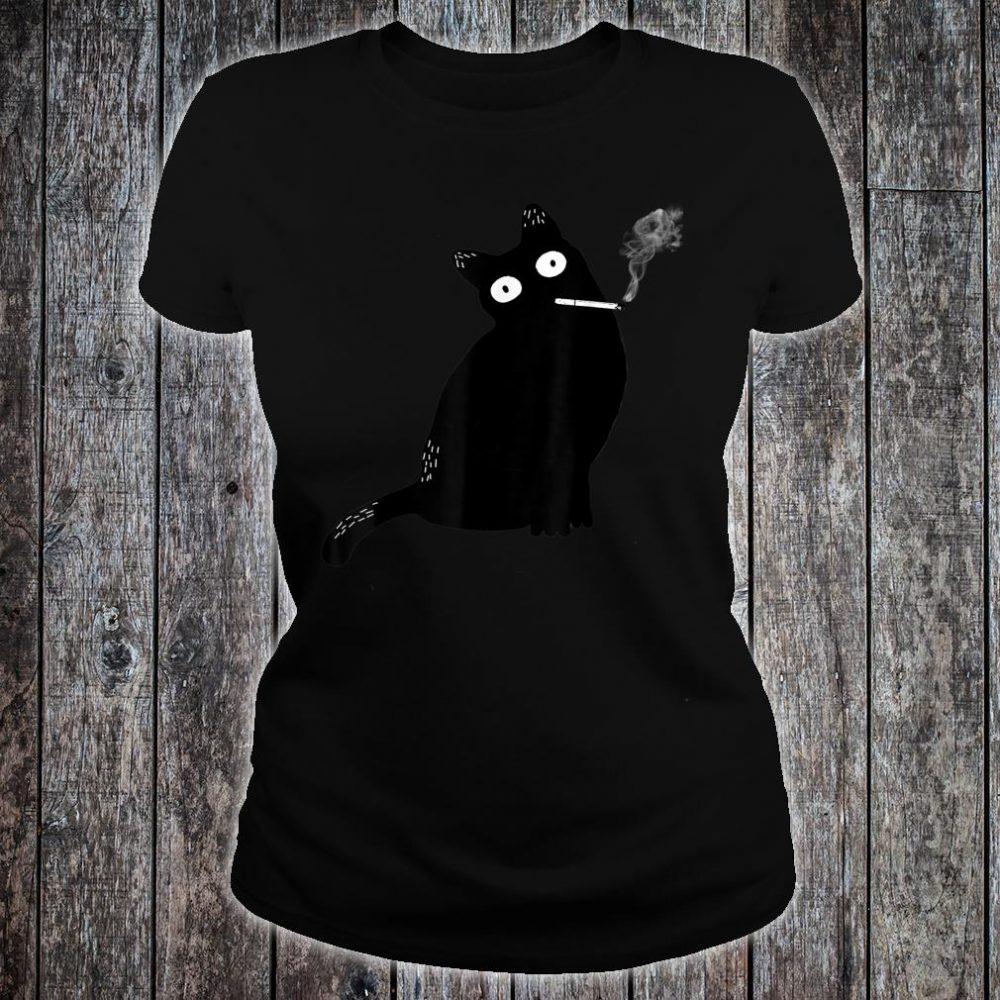 Rebel Smoking Bad Cat Shirt ladies tee