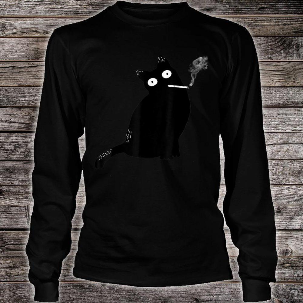 Rebel Smoking Bad Cat Shirt long sleeved