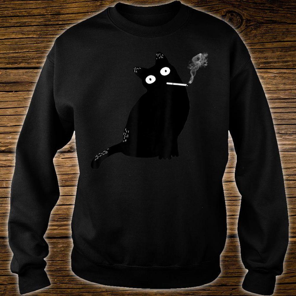 Rebel Smoking Bad Cat Shirt sweater