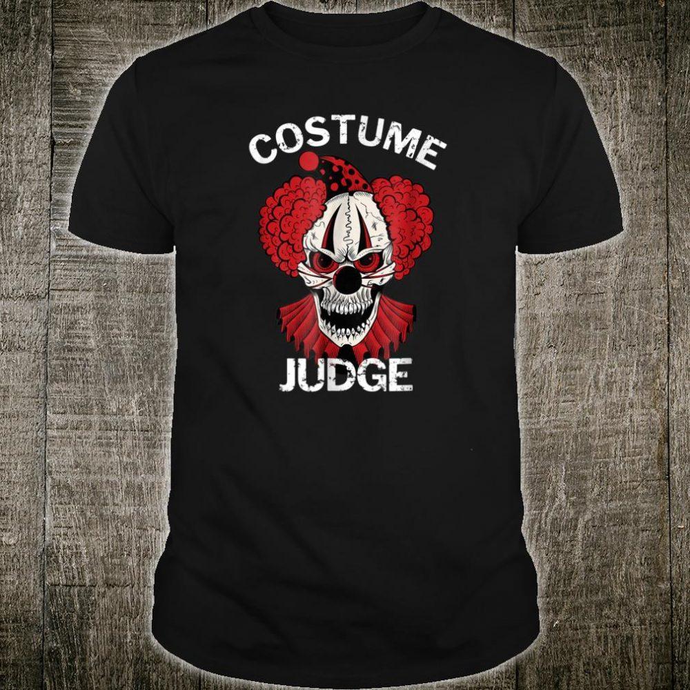 Red Scary Halloween Clown Costume Judge Shirt