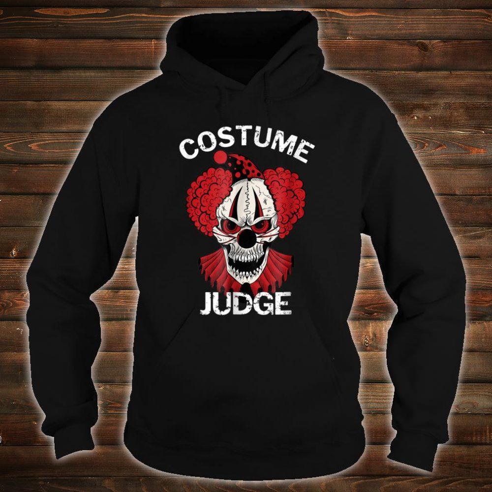 Red Scary Halloween Clown Costume Judge Shirt hoodie