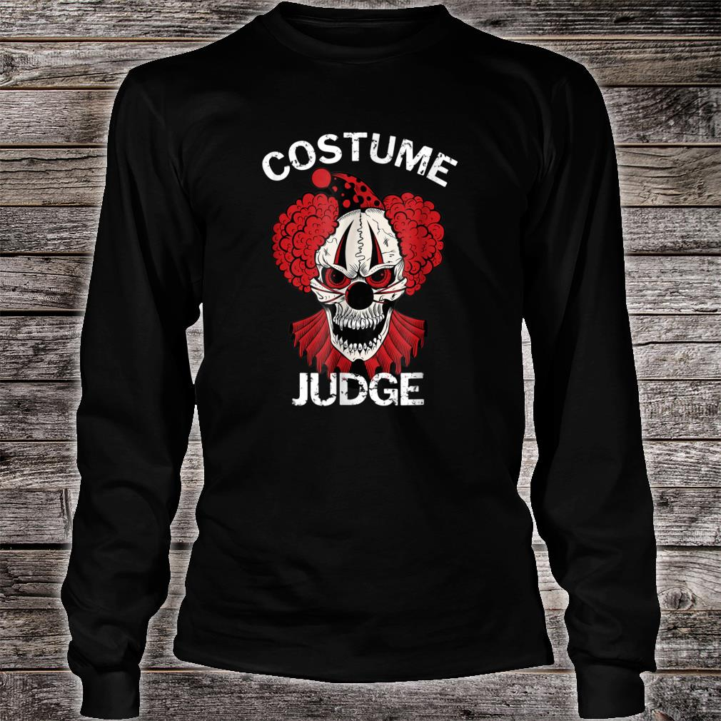 Red Scary Halloween Clown Costume Judge Shirt Long sleeved