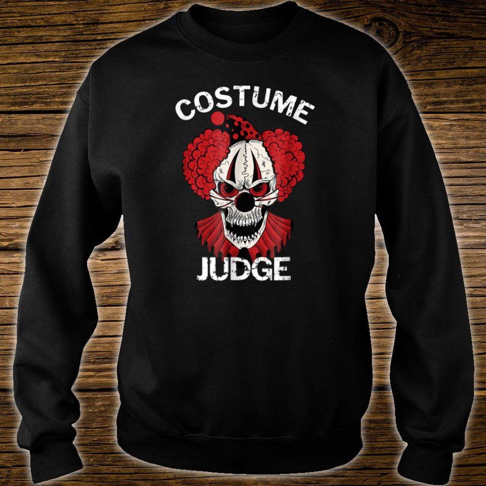 Red Scary Halloween Clown Costume Judge Shirt sweater