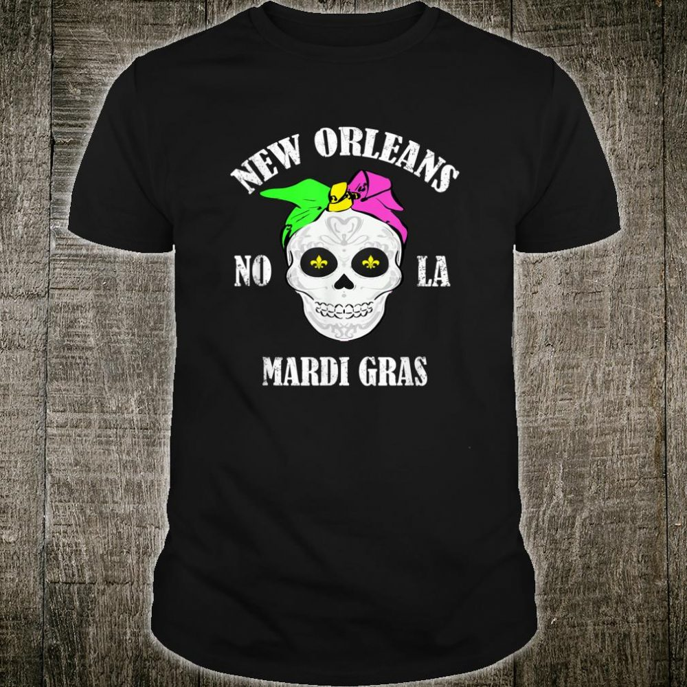 Retro Vintage Mardi Gras Skull Shirt