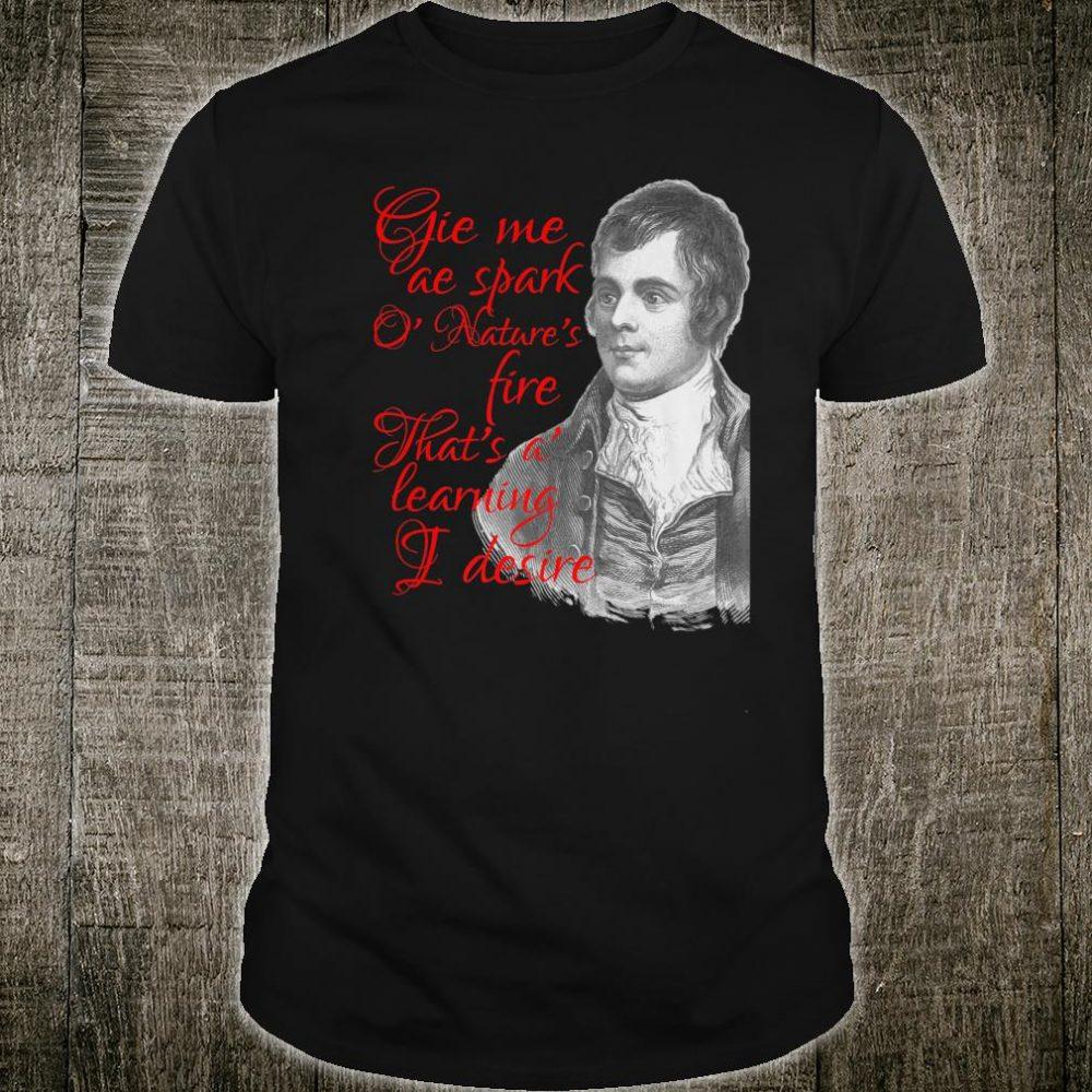 Robert Burns Poetry Burns Scottish Supper Night Shirt