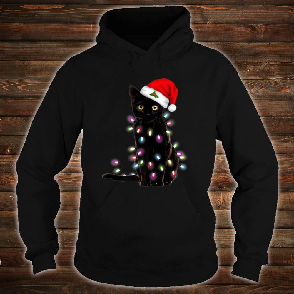 Santa Cat Lights Christmas Shirt For Cat Shirt hoodie