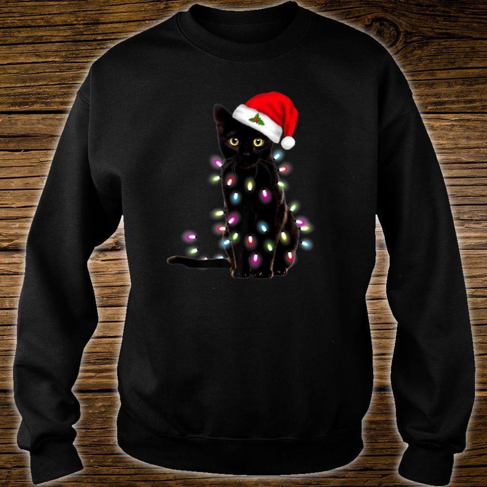 Santa Cat Lights Christmas Shirt For Cat Shirt sweater