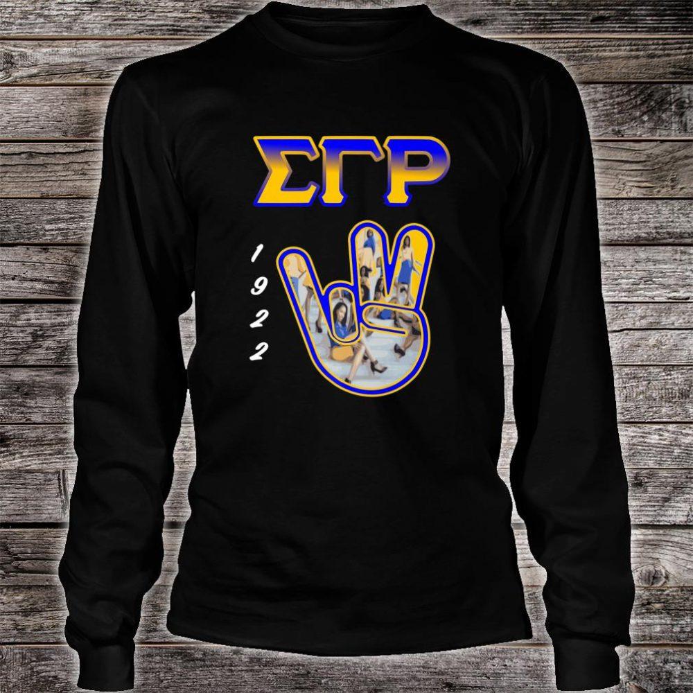 Sigma Gamma Rho Hand Sign 2020 Paraphernalia Shirt long sleeved