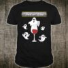 Trick or Wine Ghosts and Wine Halloween Costume Shirt