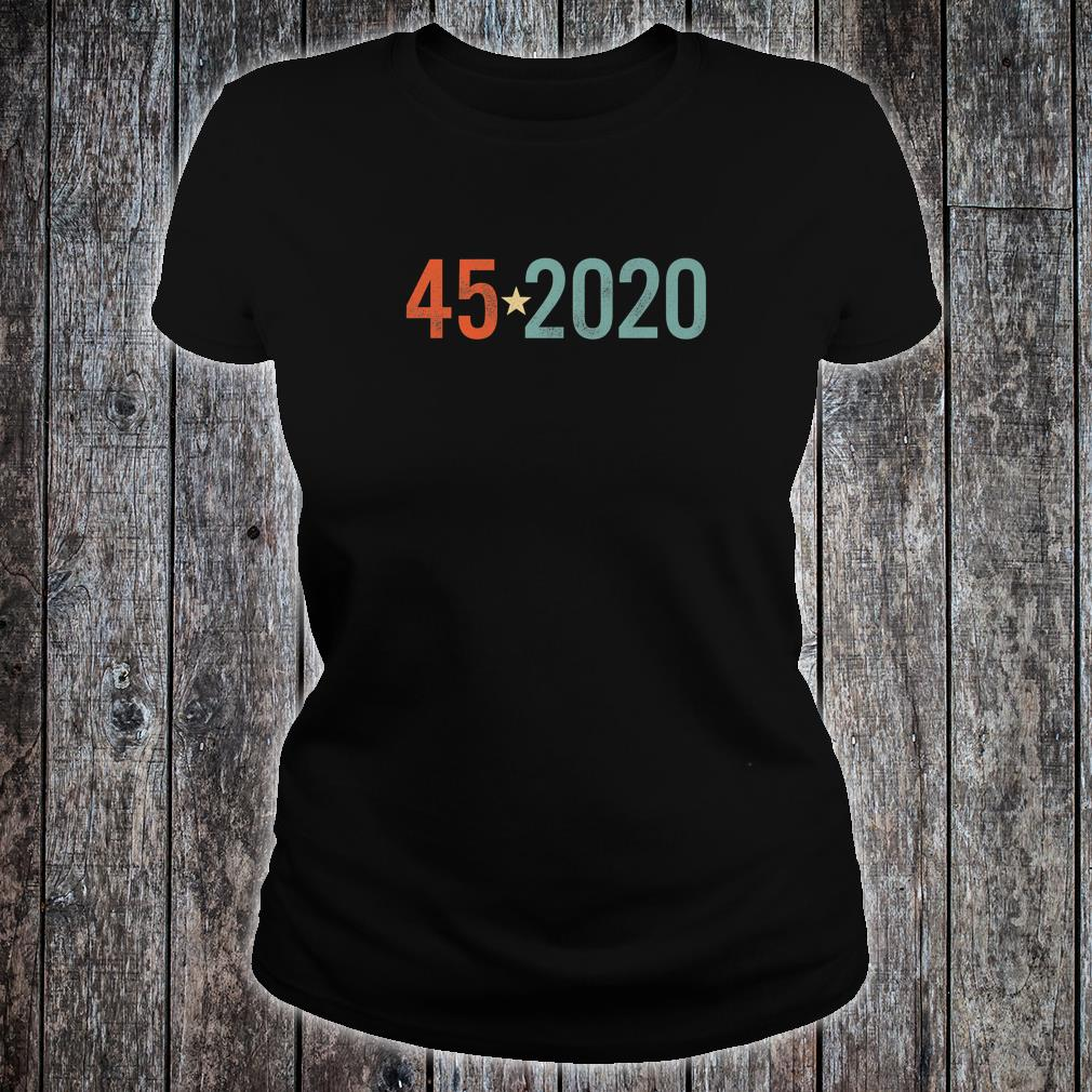 Trump 45 2020 Election Vintage Distressed Effect Shirt ladies tee