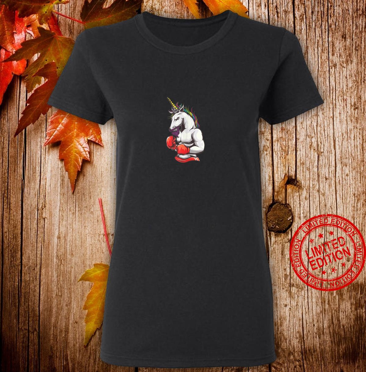 Unicornio boxeador Shirt ladies tee