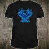 Vintage Style Phoenix Bird Devil Horns Blue Shirt