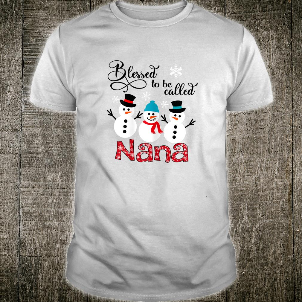 Womens Blessed To Be Called Nana Snowman Christmas Shirt