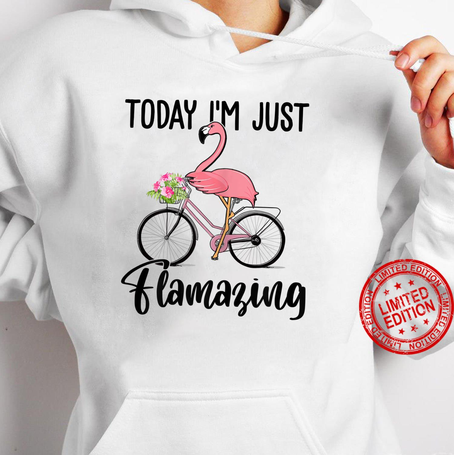 Womens Today I'm Just Flamazing Flamingo Cycling Shirt hoodie