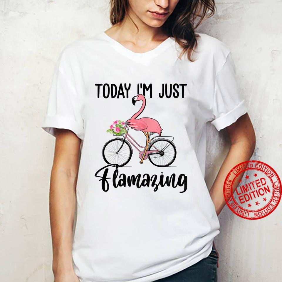 Womens Today I'm Just Flamazing Flamingo Cycling Shirt ladies tee