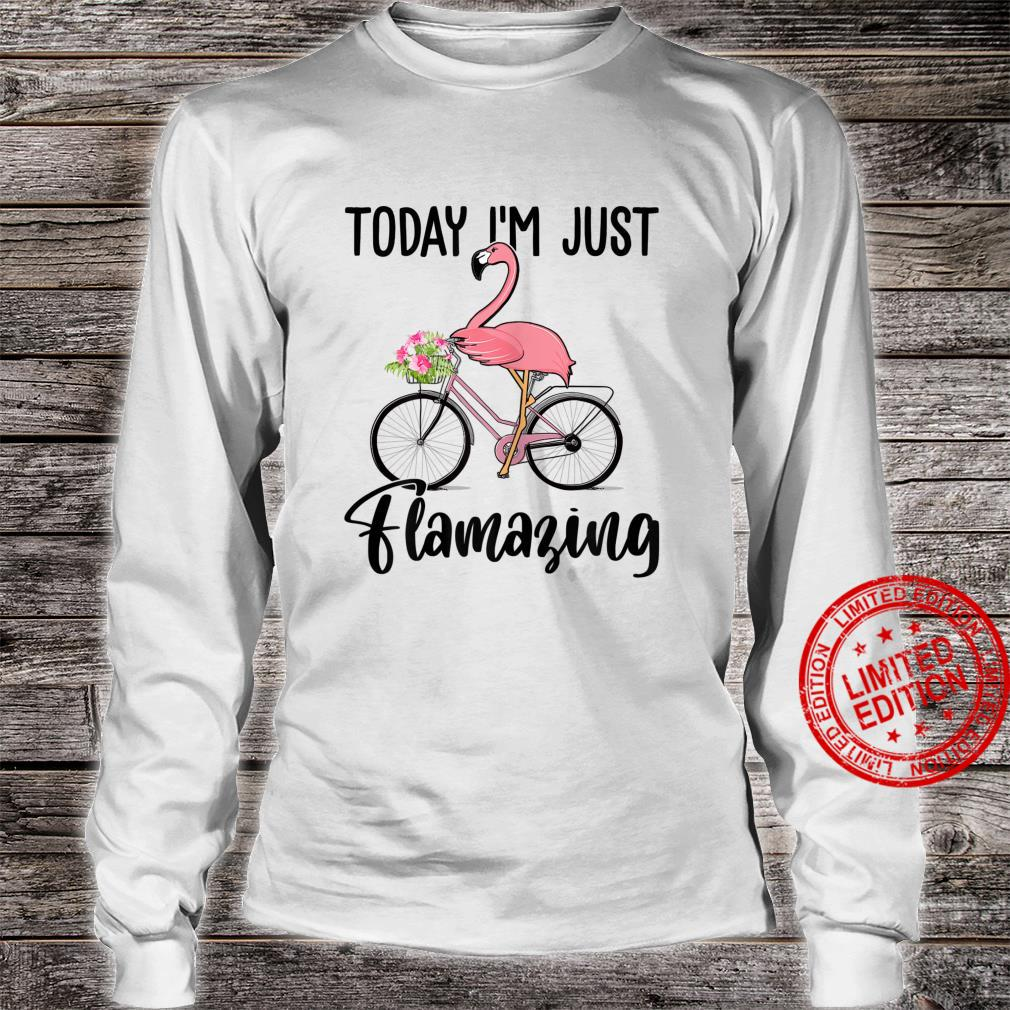 Womens Today I'm Just Flamazing Flamingo Cycling Shirt long sleeved