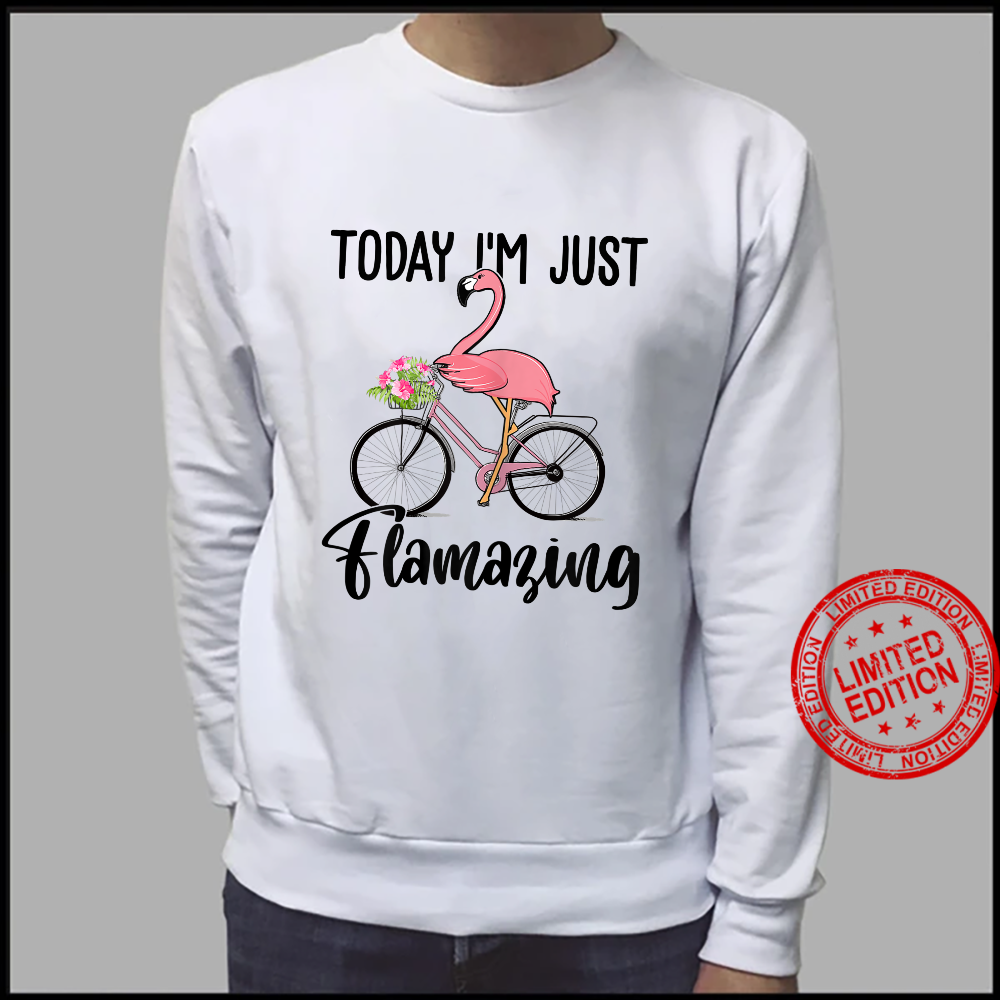 Womens Today I'm Just Flamazing Flamingo Cycling Shirt sweater